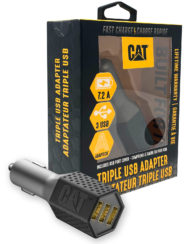 Cat® Triple USB DC Vehicle Adapter 7.2 Amp